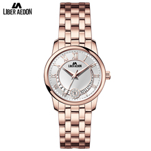 Liber Aedon Gold Stainless Steel Strap Top Brand Luxury Women Watch Anique Design Sport Quartz Elegant Fashion Women Watches