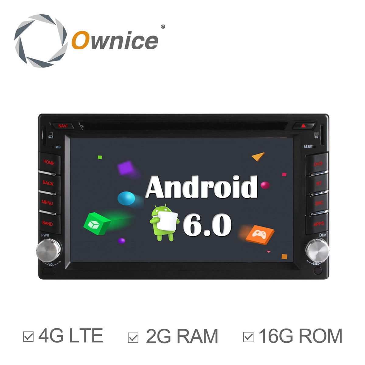 Ownice C500 Android6.0 Quad Core 2GB RAM universal Car Radio 2 din Car DVD Player GPS Navi Stereo video 4G LTE Network 16GB ROM