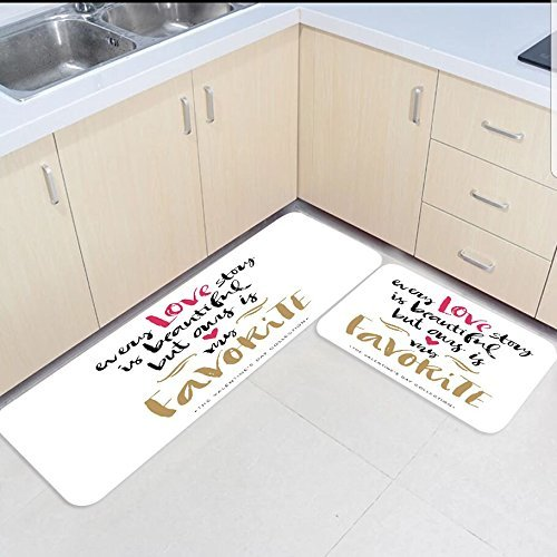 2 Piece Kitchen Mats And Rugs Set Funny Quotes Every Love Story Home