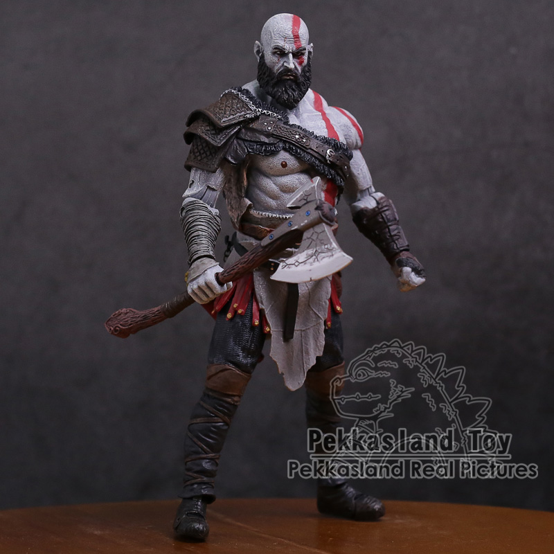 Original God of War 4 Kratos PVC Action Figure Collectible Model Toy 7inch 18cm god of war 2 pvc action figure display toy doll kratos with flaming blades