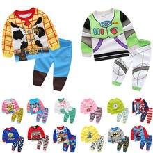 Kids Buzz Lightyear Tracksuit Boy Toy Story Woody Pajamas Girl Minions Sets Dog Chase Marshall Rubble Print Sweatshirt
