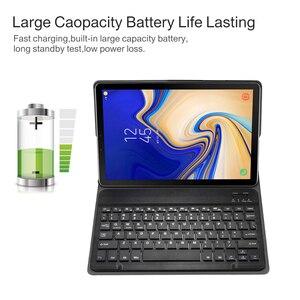 Image 5 - Съемный чехол для клавиатуры Samsung Galaxy Tab A 10,5 2018, Bluetooth, беспроводная клавиатура с функцией автоматического сна/пробуждения, для планшета Samsung Galaxy Tab A 10,5 2018, T595/T597