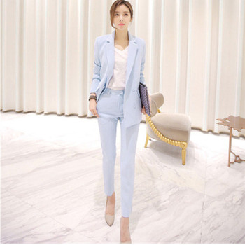Customized now popular new ladies casual fashion suit two-piece (jacket + pants) ladies business office dress