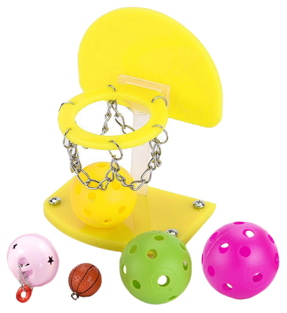Pony Balls Chew Toy Balls Parrot Toys Birdie Basketball Hoop Props Pet Supplies Products Birdie Basketball Hoop Props XP0403