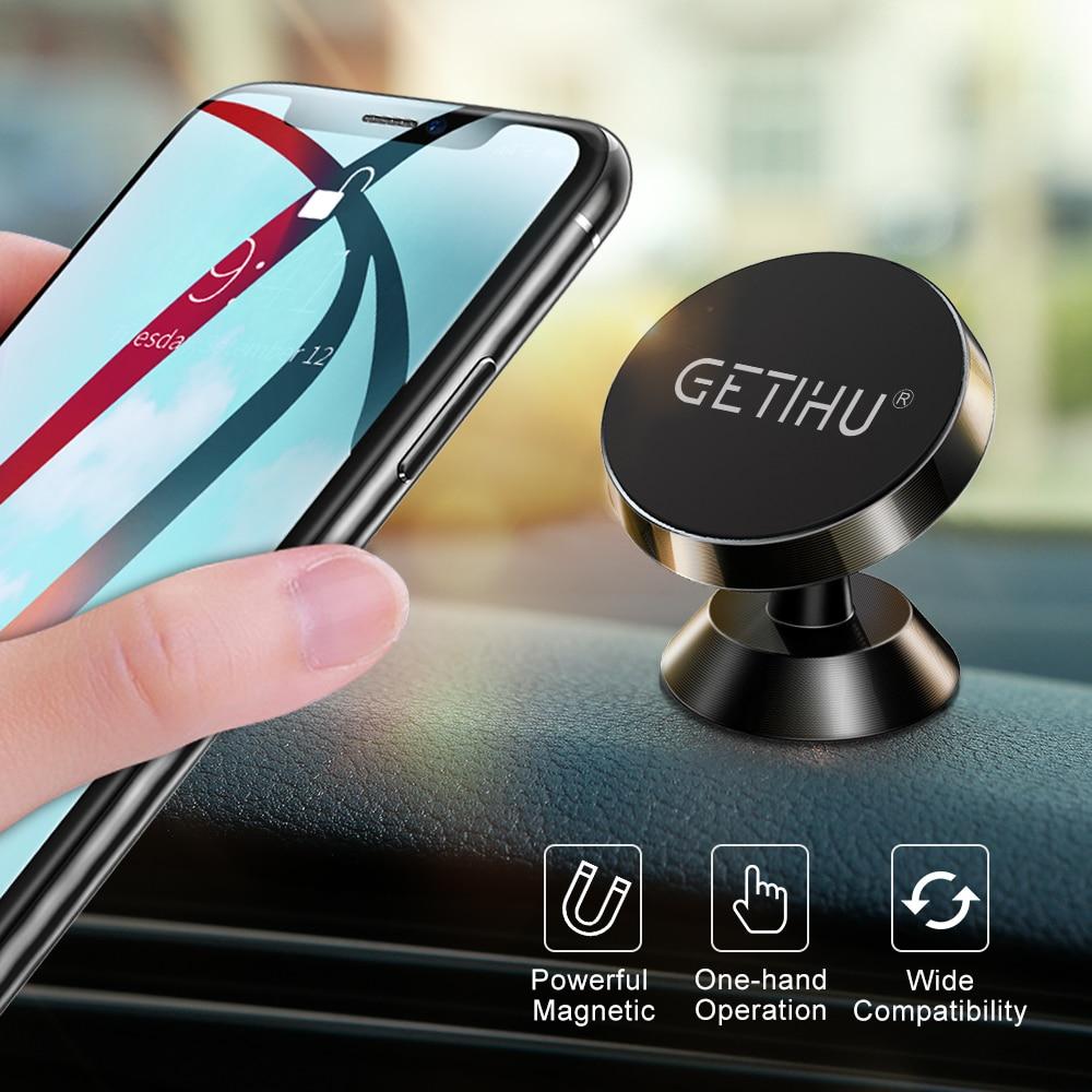 GETIHU универсальный магнитный автомобильный держатель для телефона Подставка в автомобиль для iPhone X samsung магнит вентиляционное отверстие кре...