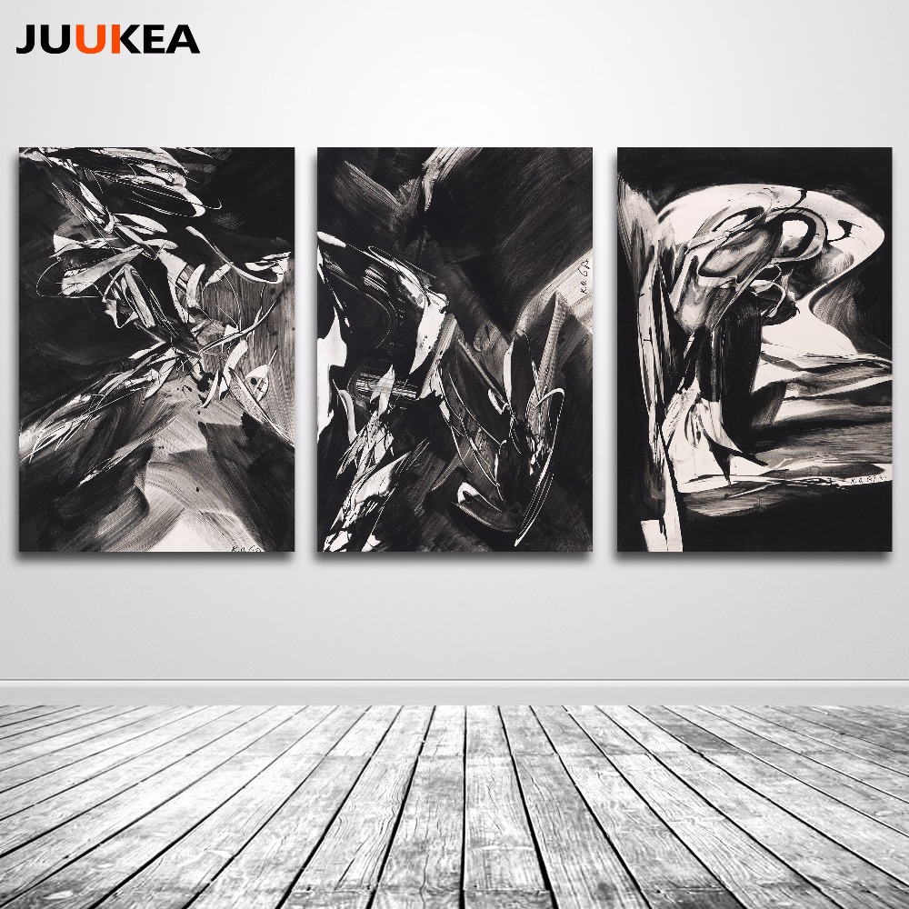 Us 6 42 20 Off Black White Crazy Abstract Canvas Art Print Painting Home Decor Painting Calligraphy Wall Posters For Living Room Wall Decor In