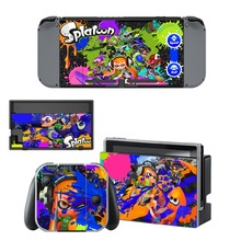 Game Splatoon 2 Decal Vinyl Skin Protector Sticker for Nintendo Switch NS Console +Controller + Stand Holder Protective Skin аксессуар для игровой приставки nintendo switch контроллер splatoon 2