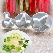 3Pcs/Set Maple Leaf Shape Fondant Cookie Plunger Cutters Cake Sugarcraft Mold Decorator Tools Christmas Bakeware цена