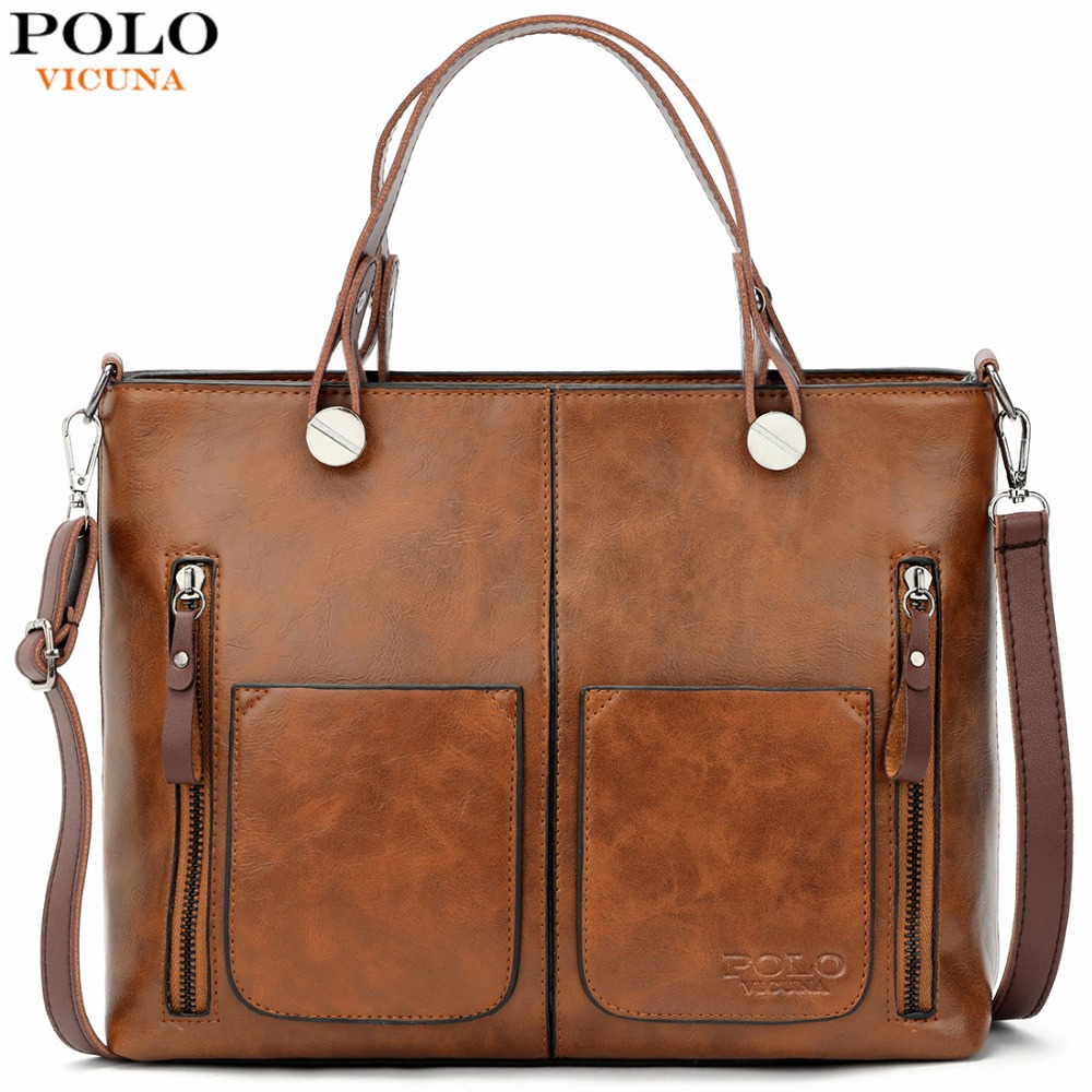 VICUNA POLO New Arrival Woman Leather Shoulder Bag Large Capacity Luxury Lady Handbag For Female Fashion Women Messenger BagsVICUNA POLO New Arrival Woman Leather Shoulder Bag Large Capacity Luxury Lady Handbag For Female Fashion Women Messenger Bags