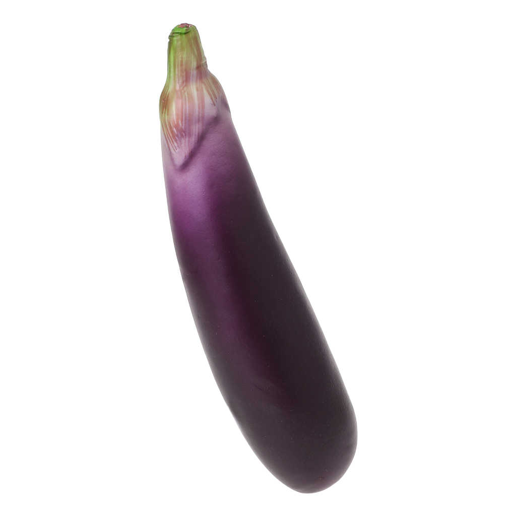 Lifelike Artificial Eggplants Simulation Fake Vegetable Photo Props Home Kitchen Decoration Kids Teaching Toy Nov-6A
