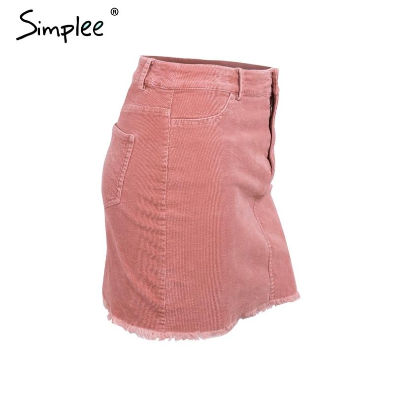 Sweet Pink Women Short Skirt