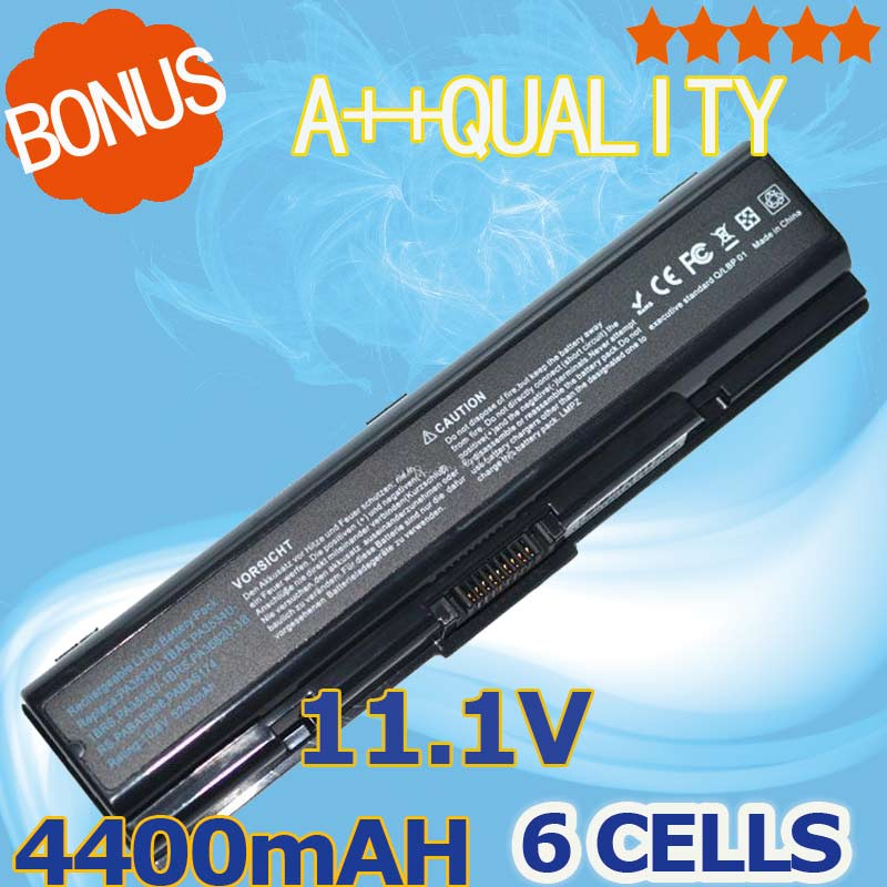 Black 11.1v Laptop Battery For Toshiba PA3534U-1BAS 3533 PA3