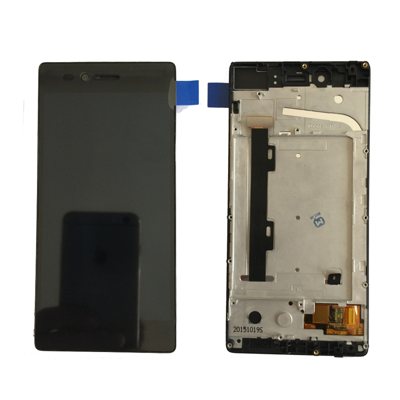 For Lenovo Vibe Shot Z90 z90a40 z90-7 z90-3 z9 LCD Display With Touch Screen Digitizer Assembly with frame Free Shipping аксессуар чехол lenovo z90 vibe shot z90a40 zibelino soft matte zsm len vib shot