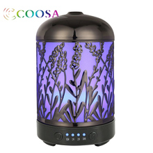 Coosa Aromatherapy Essential Oil Diffuser Lavender Pattern Ultrasonic Waterless Auto Shut-Off Aroma For Home Kids Room