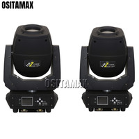 2pcs Stage Light Moving Head 230w Spot Gobo Light Beam Zoom Moving Head Double Prism LCD Display for Party Dance Disco Wedding