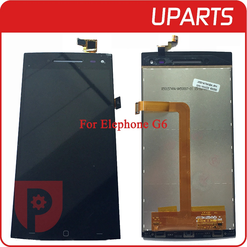High Quality For Elephone G6 LCD Display + Touch Screen Assembly LCD Digitizer Glass Panel Replacement Free Shipping Tracking NO high quality for elephone g6 lcd display