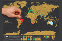 Diy Scratch Map Of The World Travel Edition Deluxe World Map Poster Black Traveler Scratch Off