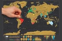 Diy Scratch Bản Đồ Của Thế Giới Du Lịch Phiên Bản Deluxe Thế Giới Map Poster Đen Du Lịch Scratch Off Map Personalized Tạp Chí Log quà tặng