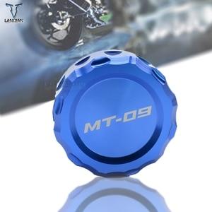 Image 1 - LOGO MT 09 moto CNC avant et arrière frein liquide cylindre maître réservoir couvercle pour Yamaha MT 09 MT09 mt09 2013 2014
