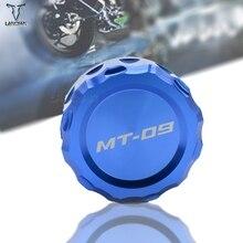 לוגו MT 09 אופנוע CNC מול & אחורי בלם נוזל צילינדר מאסטר מאגר כיסוי כובע עבור ימאהה MT 09 MT09 mt09 2013 2014