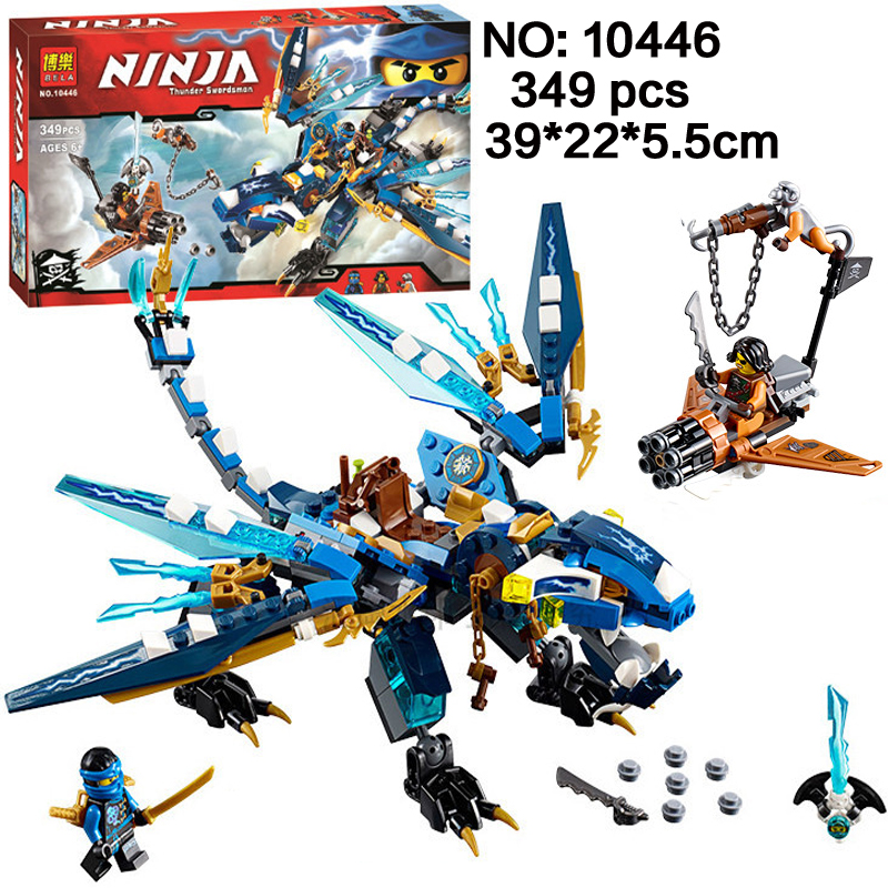 349pcs Ninjagoes Jay's Elemental Dragon Ninja Bricks Compatible with Legao 70602 Models Building Blocks toys for children gifts 2016 new ninja kay fight building blocks sets 94 pcs bricks model toys ninjagoes compatible legoelieds toy without retail box