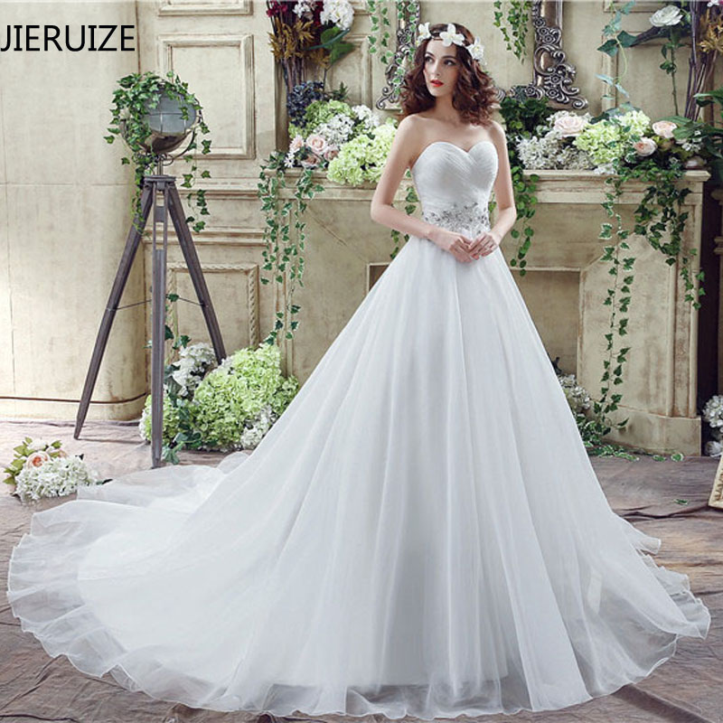 Aliexpress.com : Buy JIERUIZE White Organza Simple Wedding