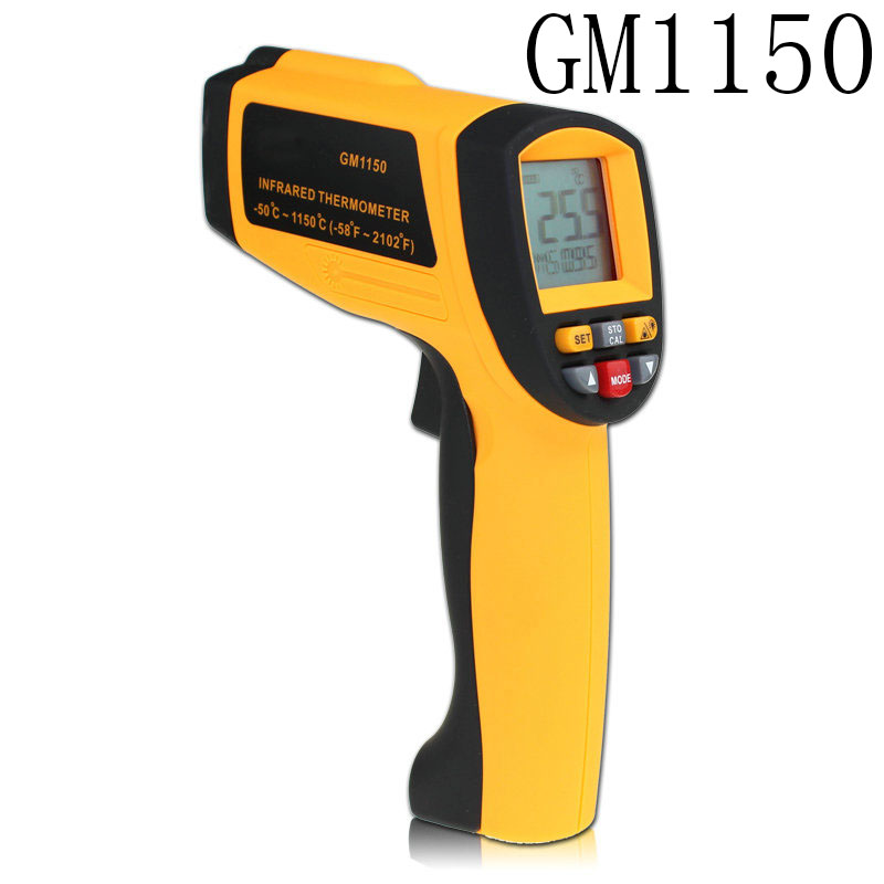 GM1150 Digital Infrared Laser Thermometer Non-contact -50 ~ 1150C -58~2102F in IR Temperature Gun Instrument LCD 2016 high quality for bside btm21c infrared thermometer color digital non contact ir laser thermometer k type 30 500 led
