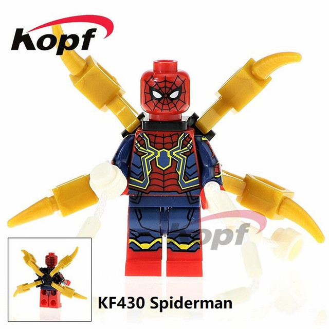 20Pcs Super Heroes Avengers INFINITY WAR Spider Man Captain America Iron Man Building Blocks Education Toys 640x640