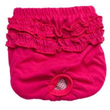Pet Dog Sanitary Panty Cotton Female Girl Small Large Dogs Physiological Diaper Shorts Panties Solid Menstruation Underwear F310