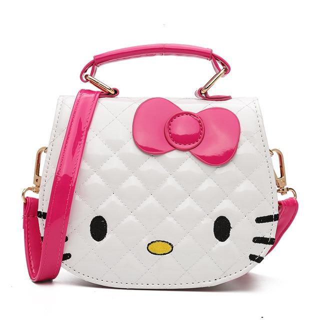 7fdb5de04e47 New Cute Mini Bag Children Hello Kitty Handbag For Women Cartoon Cat PU  Waterproof Should Bag