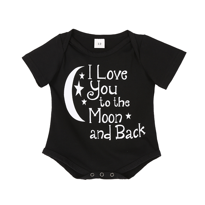 Lovely Newborn Baby Boys   Rompers   Costumes Child Letters Printed Jumpsuit   Romper   Cotton Kids Clothes