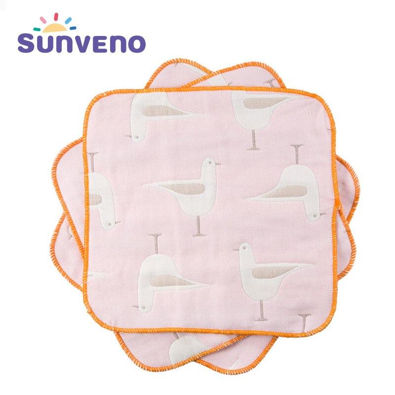 3 шт. Sunveno маленьких Полотенца Детские нагрудники слюны Полотенца хлопок детские вещи квадратных новорожденного платок Полотенца маленьких...