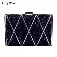 ON Sale 2016 Woman Evening Bag Women Diamond Clutch Crystal Day Clutches Wallet Wedding Purse Party