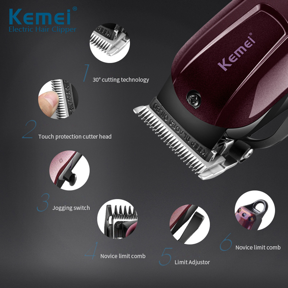 Image 5 - 220V 110V Washable Electric Hair Clipper Rechargeable Razor for Men Baby km 2600 Cordless Beard Trimmer Hair Cutting Machine-in Razor from Beauty & Health