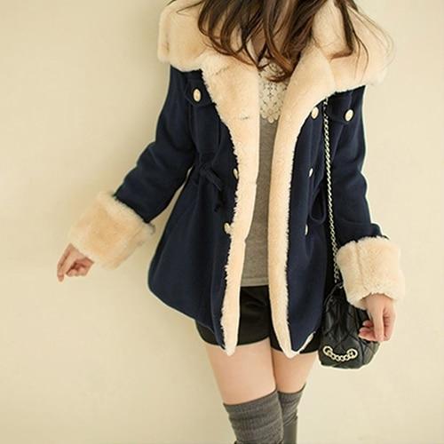 SANWOOD New Women's Winter Faux Fur Hooded Warm Coat basic jacket Overcoat Long solid fashion Outwear Warm coats for girls S-XL