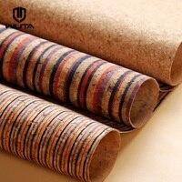 WUTA пробки тканевая прокладка для кожи ручной работы Diy материал и дома декоративный материал сумка ручной работы/бумажник подкладка в полос...