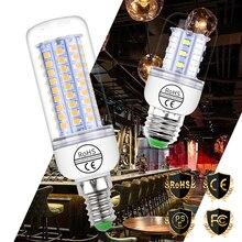 """E27 светодиодный лампы E14 Светодиодная лампа """"Кукуруза"""" лампы GU10 220V лампы в форме свечи лампы 5730 SMD 2835 Bombillas 30 36 48 56 69 89 102 светодиодный s домашнего освещения 110V"""