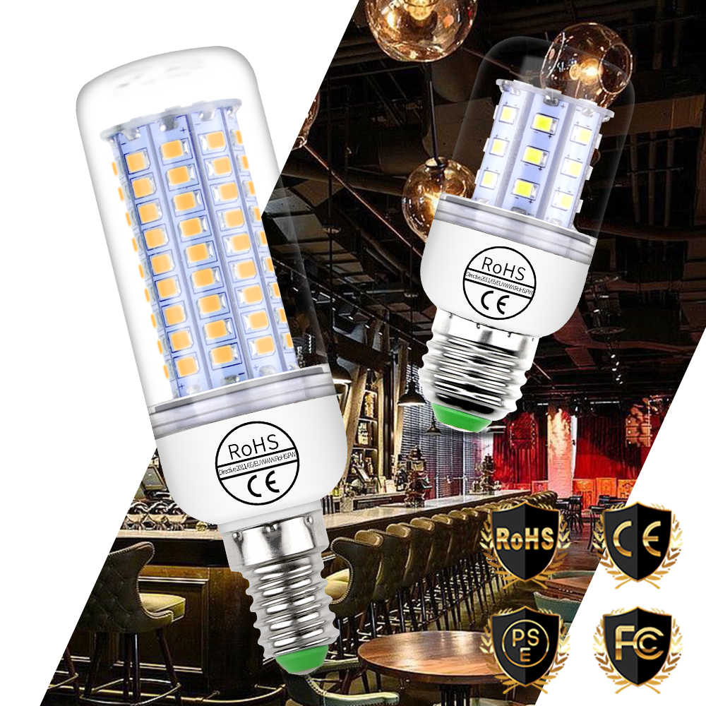 E27 LED Bulb E14 LED Lamp Corn Bulb GU10 220V Candle Lamp 5730 SMD 2835 Bombillas 30 36 48 56 69 89 102leds Home Lighting 110V