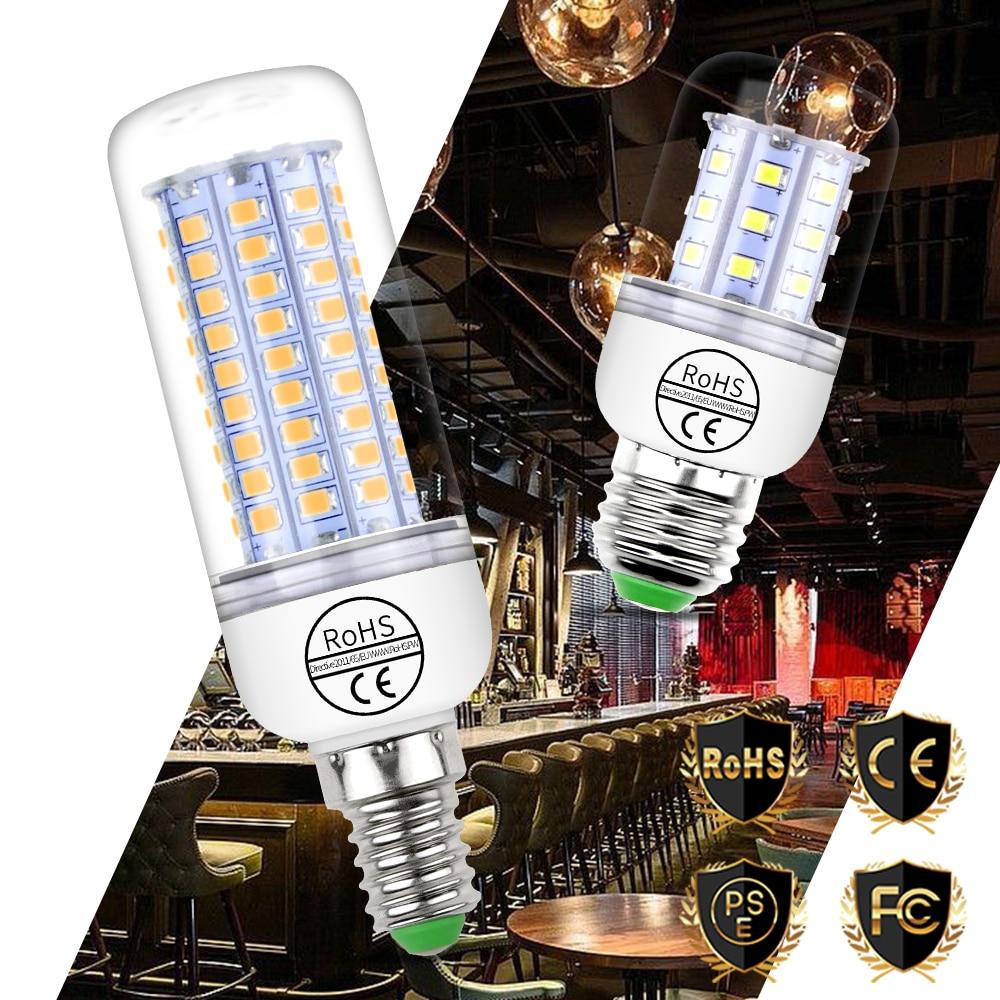 E27 LED Bulb E14 LED Lamp Corn Bulb GU10 220V Candle Lamp 5730 SMD 2835 Bombillas 30 36 48 56 69 89 102leds Home Lighting 110V