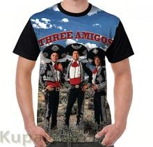 Gráfico engraçado camiseta impressão das mulheres T-Shirt de Manga Curta dos homens Cobre t Três Amigos tshirts Casuais
