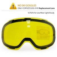 Original Yellow Graced Magnetic Lens For Ski Goggles GOG 2181 Anti Fog UV400 Spherical Ski Glasses