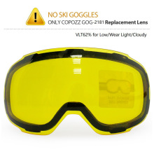 COPOZZ Original GOG 2181 Lens Yellow Graced Magnetic Lens for Ski Goggles Anti fog UV400 Spherical