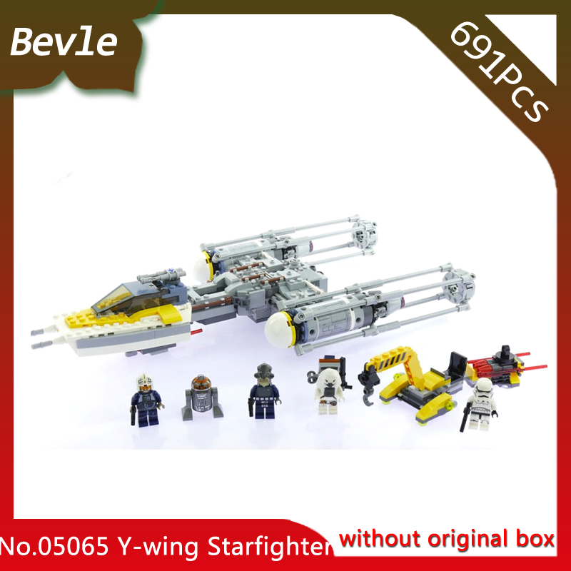 Doinbby Store 05065 691Pcs star space Series Empire Y Wing Star Fighter Model Building Blocks For Children Toys 75172 Gift