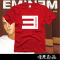 summer lovers short-sleeve male women's t-shirt eminem multicolour casual big E rock and roll tee freeshipping