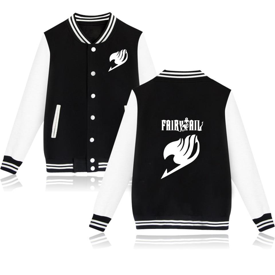 2018 Fairy Tail Streetwear Giacca Da Baseball Plus Size Top Outwear Felpa Anime Manica Lunga Cappotto Uomini Donne Cappotti E Giacche