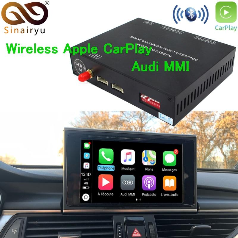 Sinairyu Aftermarket OEM Senza Fili di Apple CarPlay A3 A4 A5 A6 A7 A8 Q3 Q5 Q7 MMI Soluzione Retrofit con Inversione della macchina fotografica per Audi
