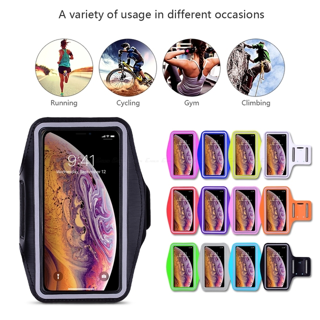 Waterproof Sports Running Workout Gym Arm Band Case For iPhone 11 Pro XS Max XR X 8 7 6 6S Plus SE 5 5S 4S Pouch Belt Cover Bag