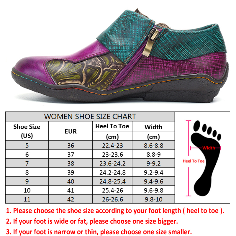 Socofy czeski płaskie buty kobiety lato w stylu Vintage drukowane płaskie buty ze skóry naturalnej zamek buty w stylu casual kobieta trampki wiosna jesień nowy w Damskie buty typu flats od Buty na  Grupa 3