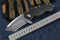 Folding Knife Carbon Fiber Handle D2 Blade TANK Utility Outdoor Camping Hunting Knife Tactical Survival Knife