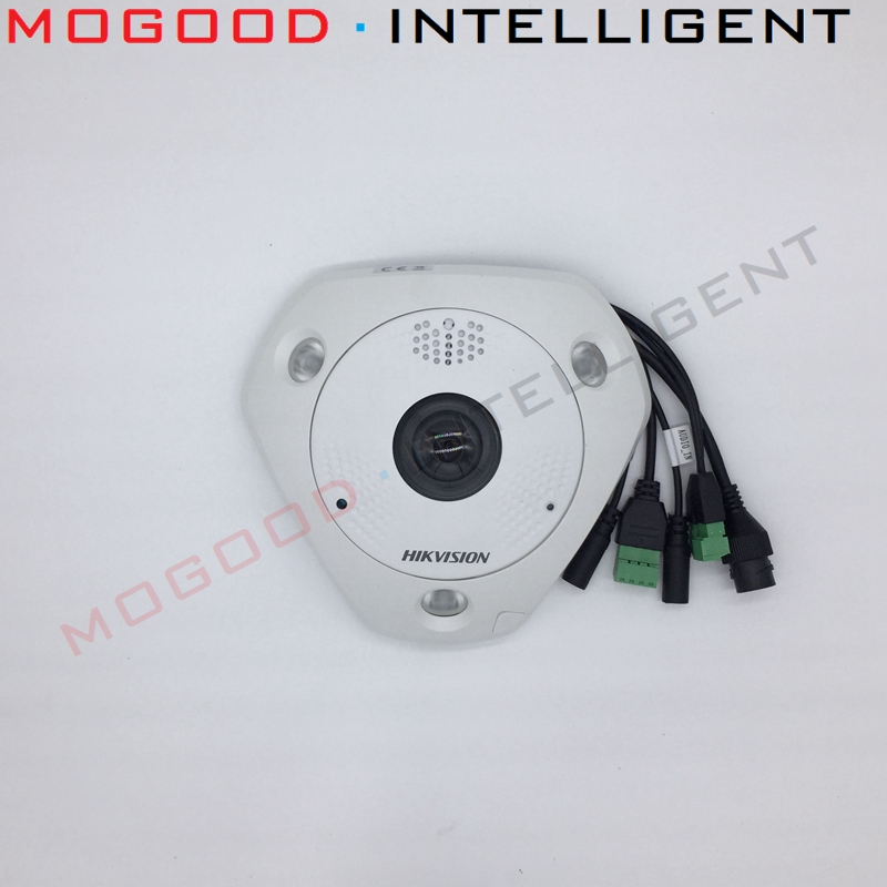 HIKVISION DS 2CD63C2F IVS 12MP 4K Fisheye View 360 Waterproof CCTV IP Camera Support ONVIF SD